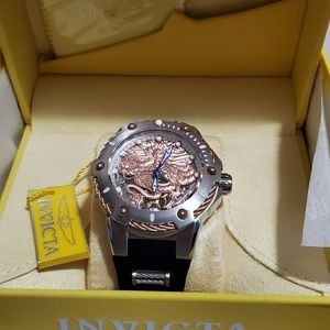 Invicta Mens Bolt Empire Dragon Strap Watch